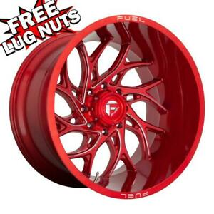 20 Inch 20x10 Fuel D742 Runner Candy Red Wheels Rims 8x180 18