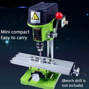 Mini Precision Milling Machine Bench Drill Vise Fixture Xy 2 axis Working Table