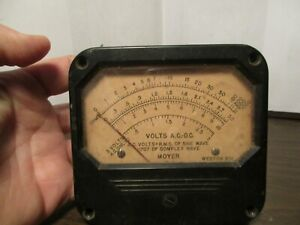 Vintage Volts Ac dc Meter Moyer Weston Ac Volts Rms Of Sine Wave