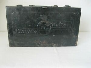 Vintage Toyota Teq Tool Kit Metal Box Oem Land Cruiser Truck With Side Tray