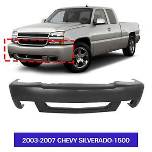 Primed Front Bumper Cover For 2003 2007 Chevy Silverado 1500 Gm1000683 12335659