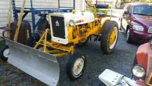 1969 International Cub C 60 Tractor With Plow And Deck Mower Attachments