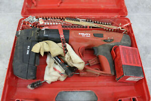 Hilti Dx 460 X 460 fie l Tool And Attachment W Case Powder Actuated Nailer Nail