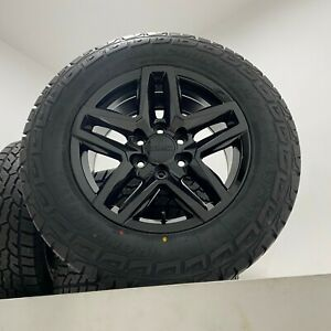 18 Black Trail Boss Wheels Rims Tires Gmc Sierra Yukon Chevy Silverado Tahoe