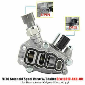 New Vtec Solenoid Spool Valve W Gasket For Honda Accord Odyssey Pilot 3 0l 3 5l