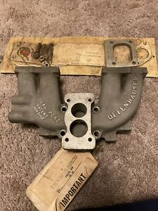 Offenhauser Intake Manifold 72 75 Chevy Luv Duel Port 6059 Gasket And Spacer Nos
