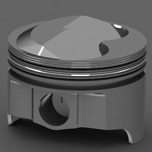 Icon Forged Piston Set Chrysler 360 Rod 6 123 Solid Dome 11 2cc 2v