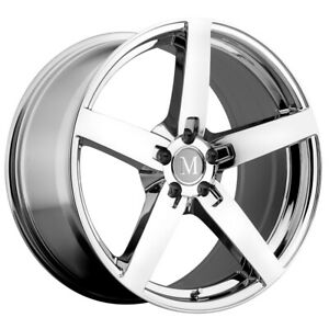 Mandrus Arrow 17x9 5x112 32mm Chrome Wheel Rim