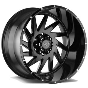 4 Offroad Monster M12 24x14 8x6 5 76mm Gloss Black Wheels Rims 24 Inch