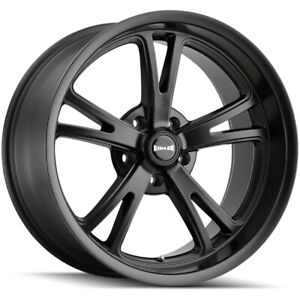 Staggered ridler 606 Front 22x9 rear 22x10 5 5x120 20mm Matte Black Wheels Rims