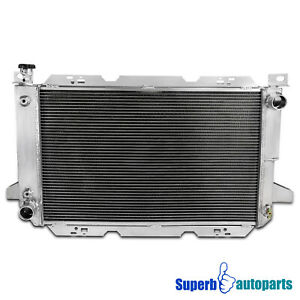 For 85 96 Ford F150 F250 Bronco Super Duty 3 row Core Aluminum Cooling Radiator