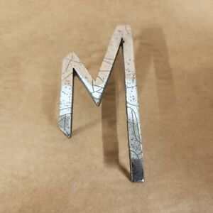 Mg Mgb Original Chrome Trunk Boot Emblem Badge M Letter Adh2475 Oem