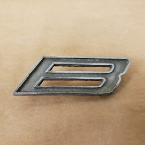 Mg Mgb Gt Original Rear Boot Hatch Door B Letter Emblem Badge Oem