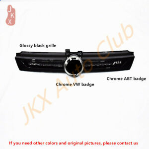 Glossy Black Bumper Grille Grill Upgrade Sport Style For Vw Golf 7 Abt 2018 2020