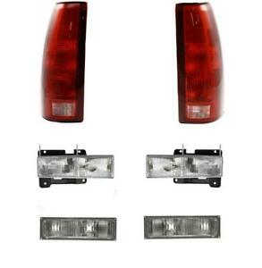 Headlights For Chevy Gmc Truck 1990 1991 1992 1993 With Tail Lights Signals