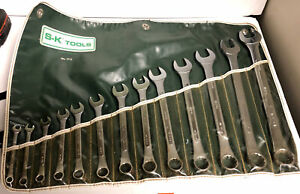 S K Tools No 1713 13 Pc Complete Combination Wrench Set W Pouch 1 4 1