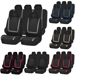 Auto Seat Covers For Car Truck Suv Van Universal Protectors Polyester 6 Color