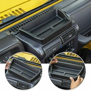 Center Console Dash Tray Dashboard Storage Box For 1997 2006 Jeep Wrangler Tj M