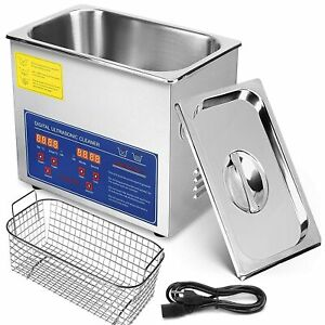 Stainless Steel 3l Heated Ultrasonic Cleaner W Timer Heater Professional