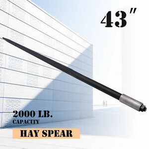 43 Hay Bale Spear 2000 Pound Capacity For Skid Steer Tractor Bobcat Loader More