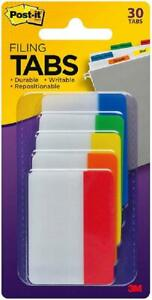 Post it Tabs 2 In Solid Assorted Colors 6 Tabs color 5 Colors 30 Tabs pack