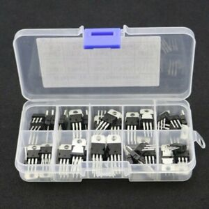 50pcs 10 Value Voltage Regulator Transistor Assortment Kit Lm317t L7805 l7824