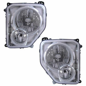 For Jeep Liberty 2008 2009 2010 2011 Pair Headlights