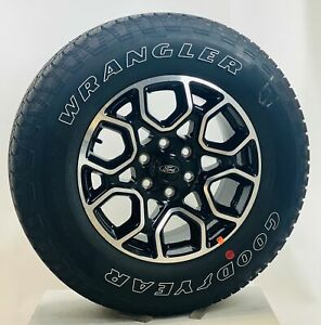 New Takeoff Ford F150 18 Black And Machine Wheels 275 65r18 Goodyear A t Tires