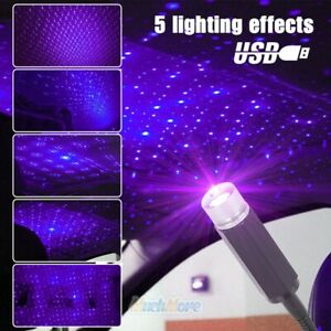 Blue Purple Car Interior Ceiling Usb Atmosphere Led Star Light Laser Projector