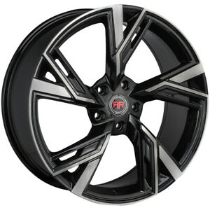 4 revolution R25 18x8 5x4 5 40mm Black machined Wheels Rims 18 Inch
