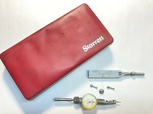 Vintage Starrett No 711 Last Word Dial Test Indicator W Attachments And Case