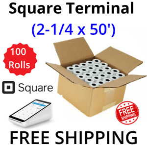 Square Terminal 2 1 4 X 50 Thermal Receipt Paper 100 Rolls free Shipping