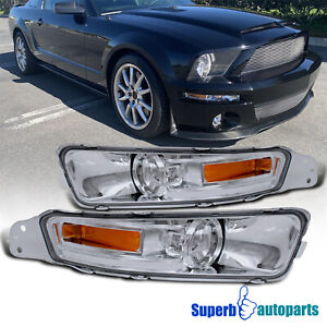 For 2005 2009 Ford 05 09 Mustang Gt Parking Signal Lights Smoke Bumper Lamps