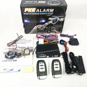 Car Suv Keyless Entry Engine Start Alarm System Push Button Remote Accessories