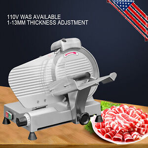Us 250mm Blade Commercial Semi automatic Meat Slicer Frozen Food Cutting Machine