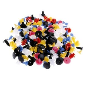 200pc Mixed Auto Car Fastener Clip Bumper Fender Trim Plastic Rivet Door Parts