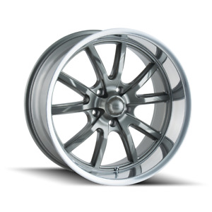17 Inch 17x8 Ridler 650 Grey Wheels Rims 5x4 5 5x114 3 0
