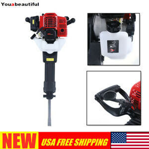 Usa Stock 52cc Gas Demolition Jack Hammer Concrete Breaker Drill 2 Stroke 1900w
