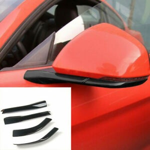 4pcs Rearview Mirror Base Cover Trim Decor Abs Black For Ford Mustang 2015 19 M