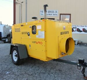 2014 Wacker Hif 690 Flameless Indirect Diesel Fired Construction Air Heater Idf