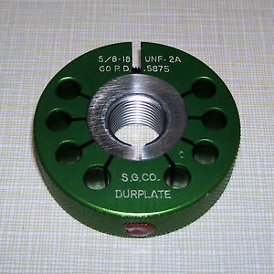 New Southern Gage 5 8 18 Unf 2a Go Pd 5875 Outside Thread Ring Gauge