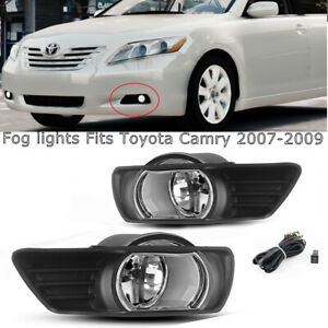 For 2007 2008 2009 Toyota Camry Clear Bumper Driving Fog Light switch Left right