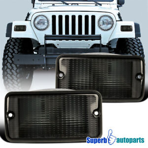 For 1997 2006 Jeep Wrangler Front Parking Lights Signal Lamps Pair Replacement