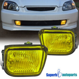 For 1996 1998 Honda Civic Fog Lights Kit W switch Replacement