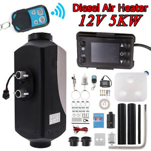 5kw 12v All In One Air Diesel Heater Remote Lcd Monitor For Car Truck Boat Rv Us