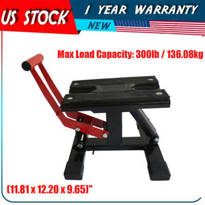 Motorcycle Scissor Lift Stand Adjustable Lift Jack Lift Stand Repairing Table Us