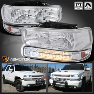 For 1999 2002 Silverado 2000 2006 Tahoe Suburban Headlights led Signal Bumper
