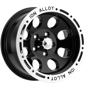 4 ion 174 15x10 5x4 5 38mm Black Wheels Rims 15 Inch