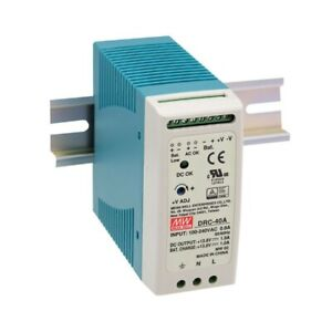 Mean Well New Drc 40a 13 8v 1 9a 40 02w Power Supply Din Rail