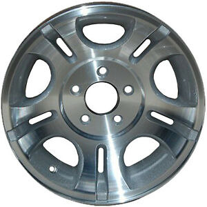 Oem Used 15x7 Alloy Wheel Rim Sparkle Silver Painted W Machined Face 3431u